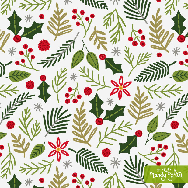 Handmade Holiday Surface Pattern Collection