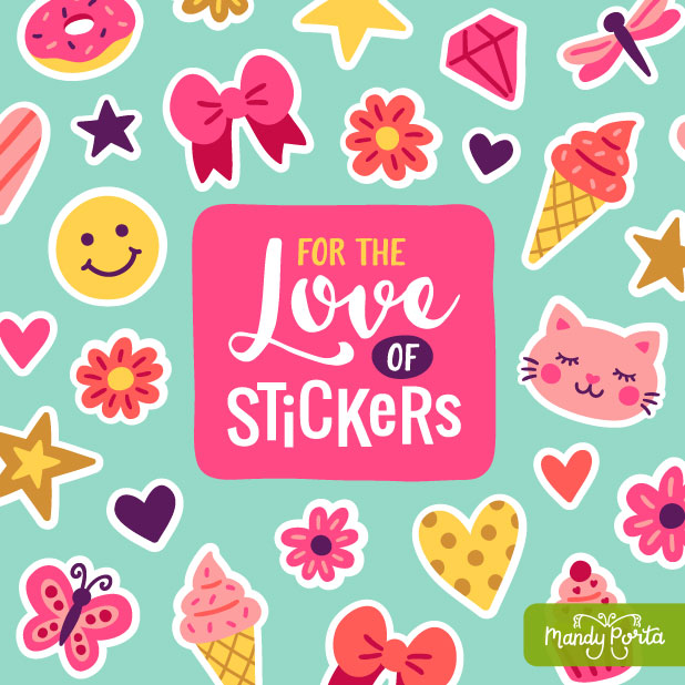 For the Love of Stickers Illustration
