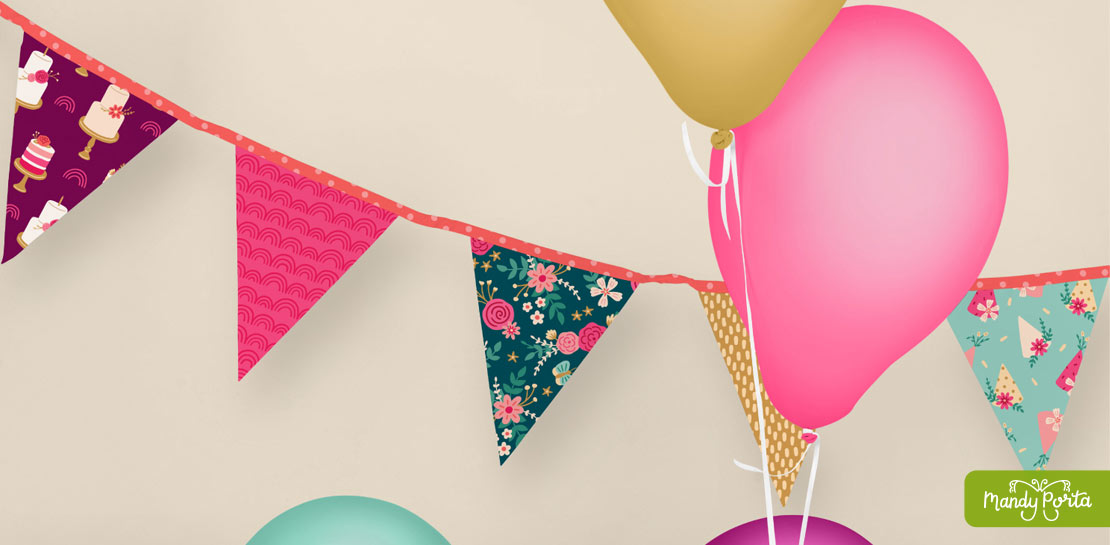 Floral Birthday Collection Party Banner