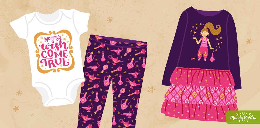 Genie Magic Patterns and Placement Graphics for Apparel