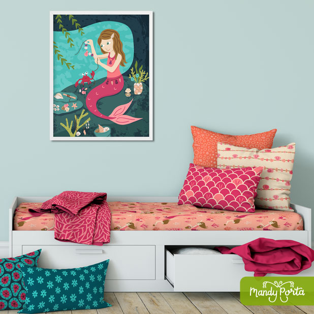 Maker Mermaid Surface Pattern Collection