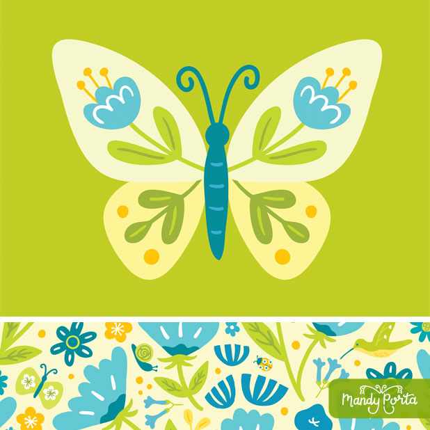 Summer Garden Pattern Collection by Mandy Porta