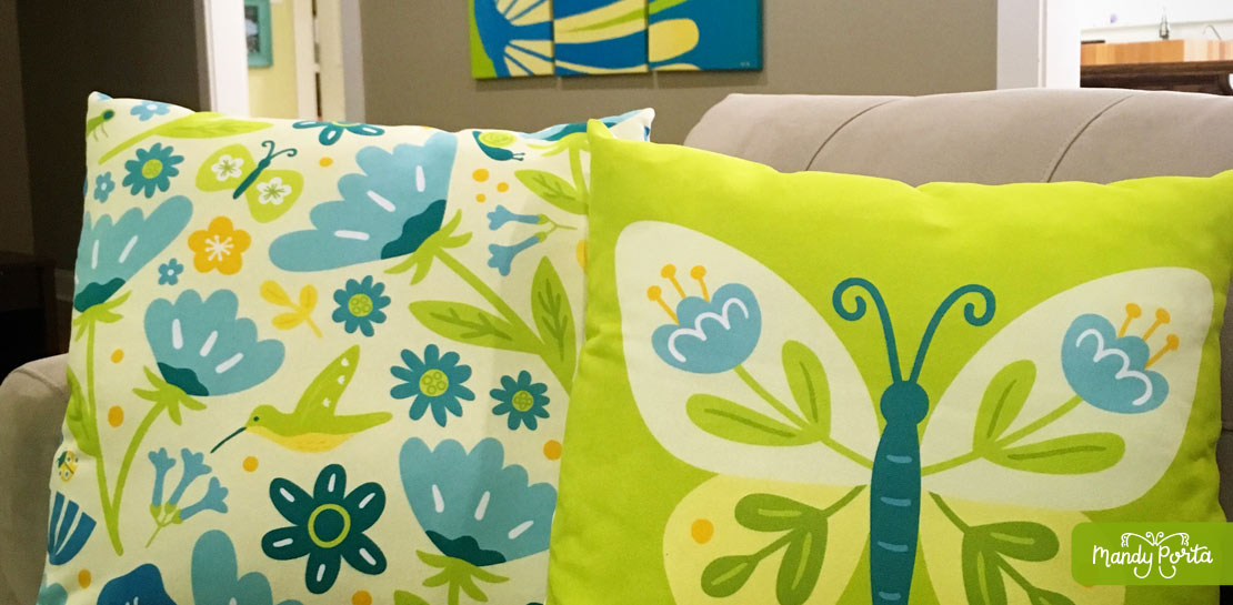 Summer Garden Pillows by Mandy Porta