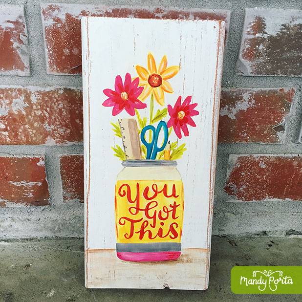 Teacher Gift - You Got This Bouquet Painting