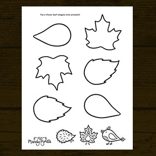 Fall Leaf Doodle Activity Printable