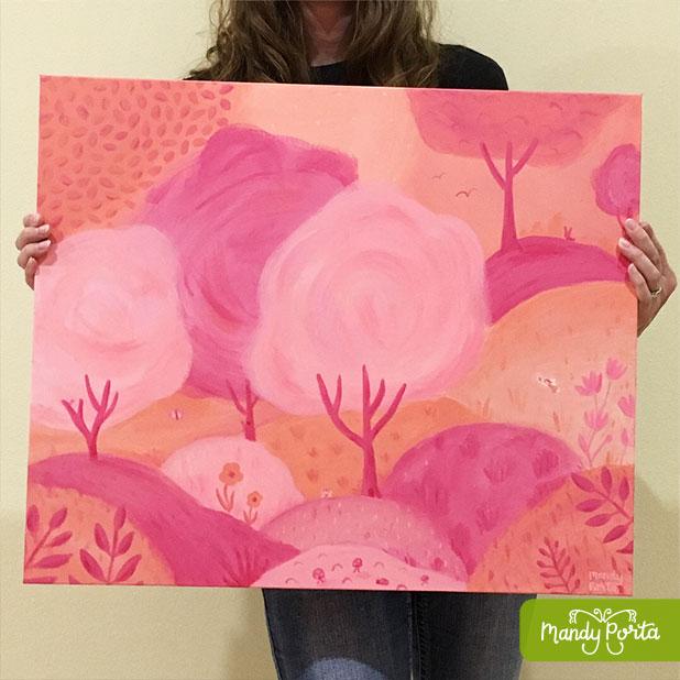 Fairyland Acrylic Painting