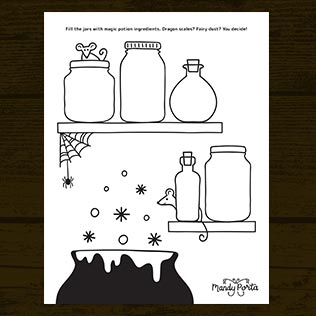 Halloween Magic Potion Doodle Activity Printable