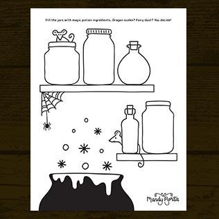 Halloween Magic Potion Doodle Activity Printable