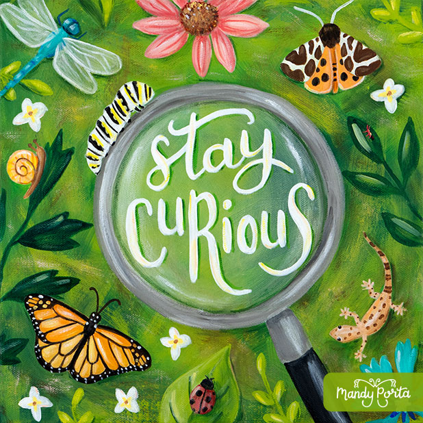Stay Curious Kids Bug Art