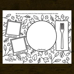 Thanksgiving Gratitude Coloring Doodle Activity Printable