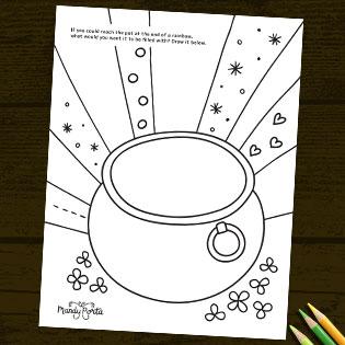 St. Patrick's Day Coloring Sheet Activity Printable