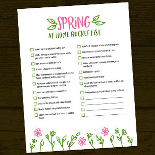 Spring At Home Bucket List