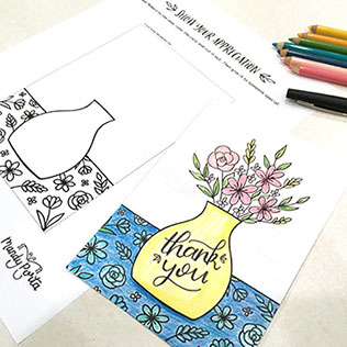 Flowers of Appreciation Card Drawing Activity
