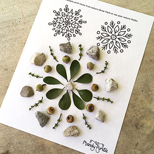 Nature Mandala Printable Activity