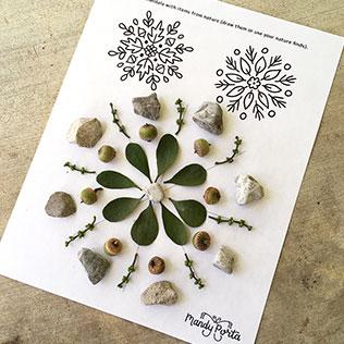Nature Mandala Printable Activity