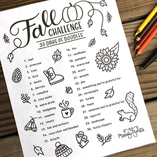 Fall Drawing Challenge: 30 Days of Doodles