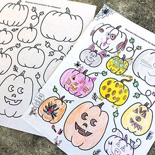 Pumpkin Drawing Halloween Activity