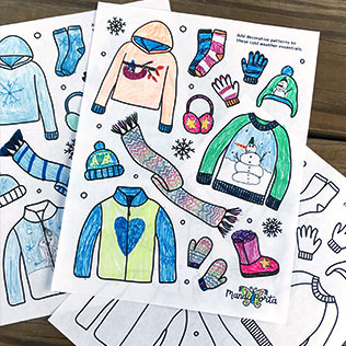 Winter Kids Drawing Activity Printable