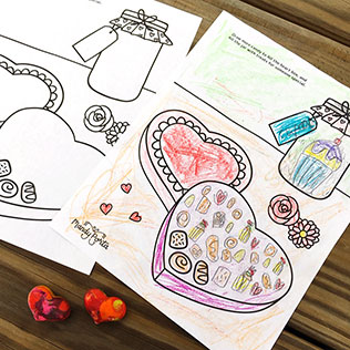 Valentine's Day Drawing Activity Printable