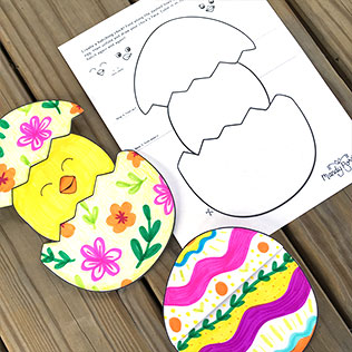 Hatching Chick Kids Spring Printable