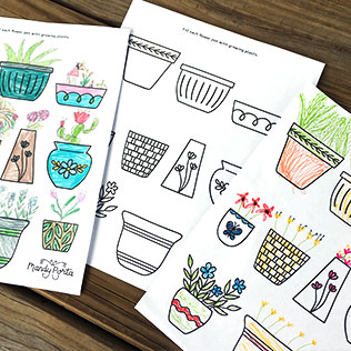 Spring Flowers Kids Drawing Activity