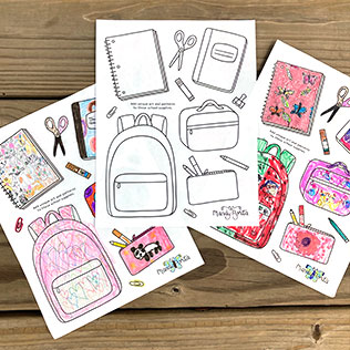 Back to School Drawing Activity for Kids