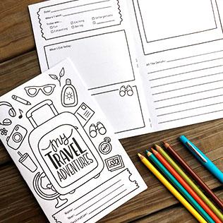 Kids Travel Journal Printable Book