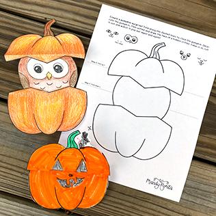 Pumpkin Surprise Critter Halloween Drawing Activity